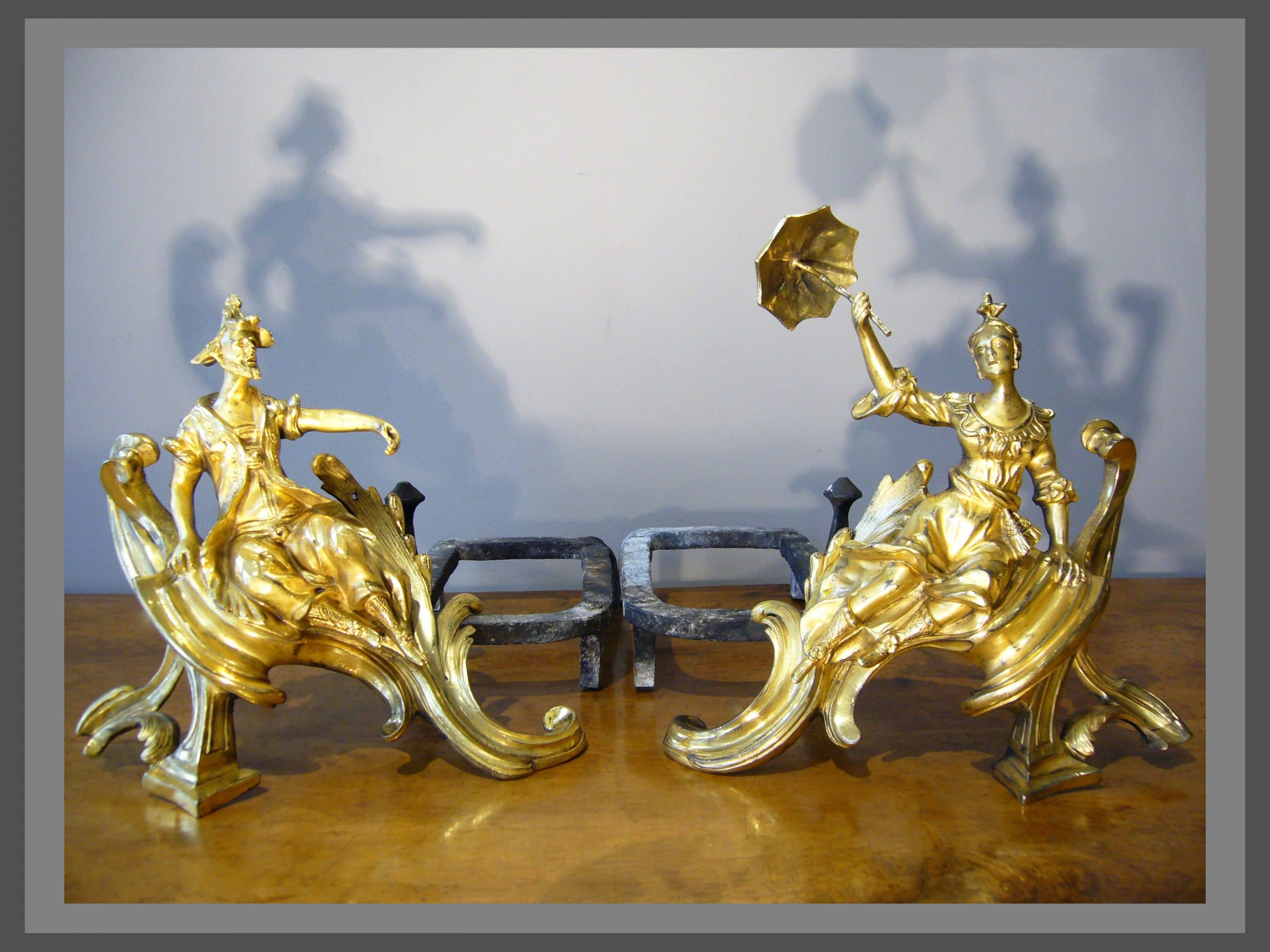 Chenets Louis XV